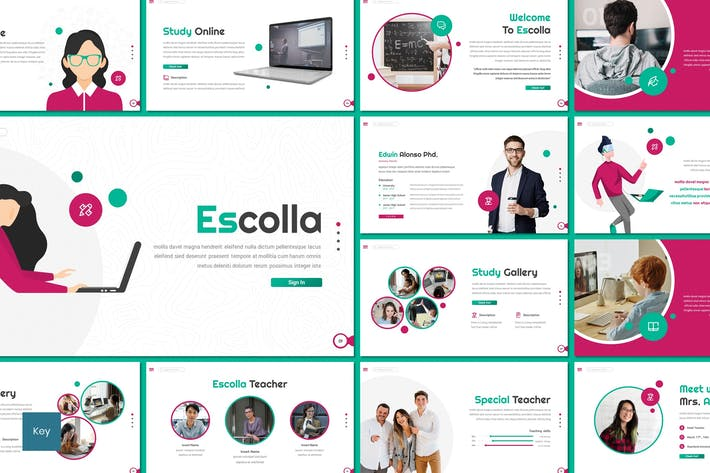 Thumbnail for Escolla - Education Keynote Template