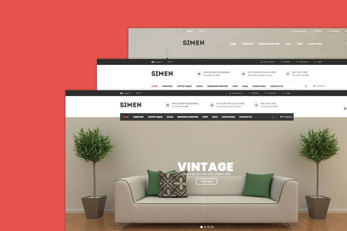 Simen - Mehrzweck-WooCommerce WordPress Thema