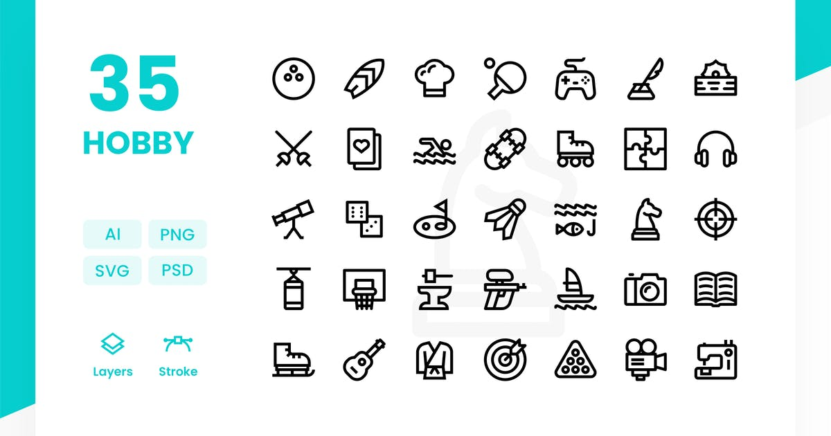 Hobby - Icons Pack by Zomorsky
