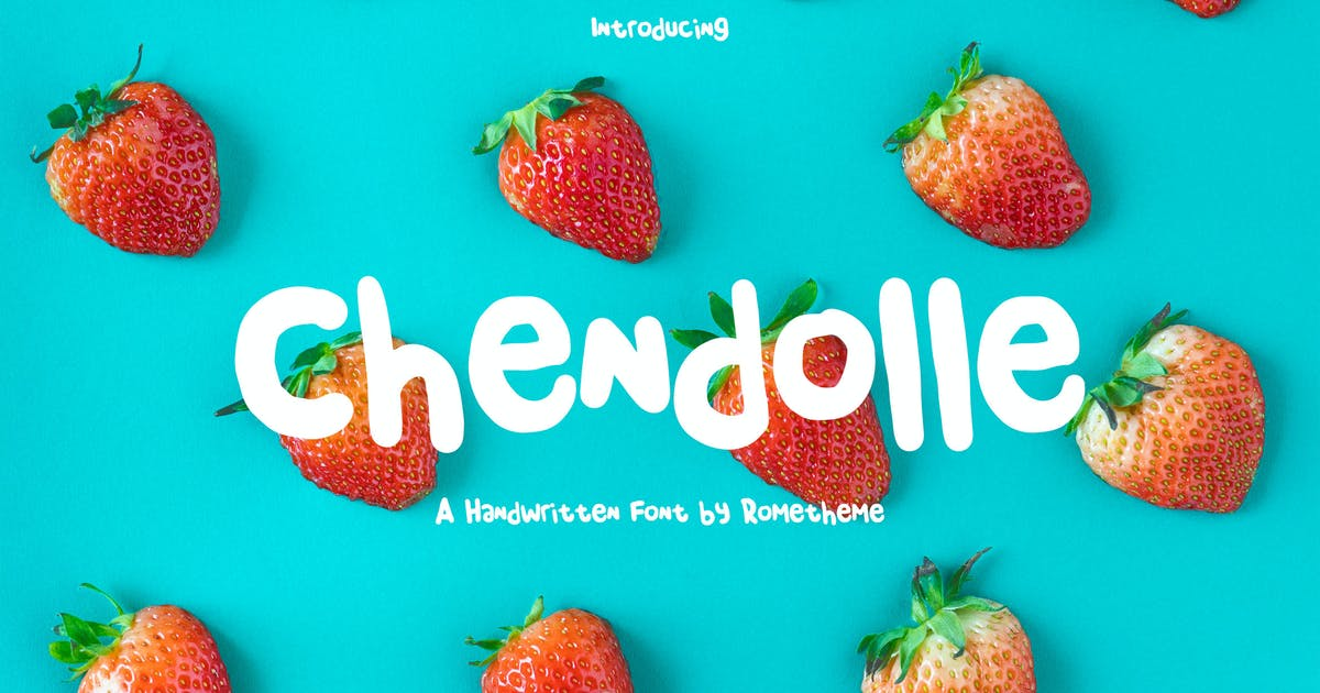 Download Chendolle - Fun Handwritten Font RG by Rometheme