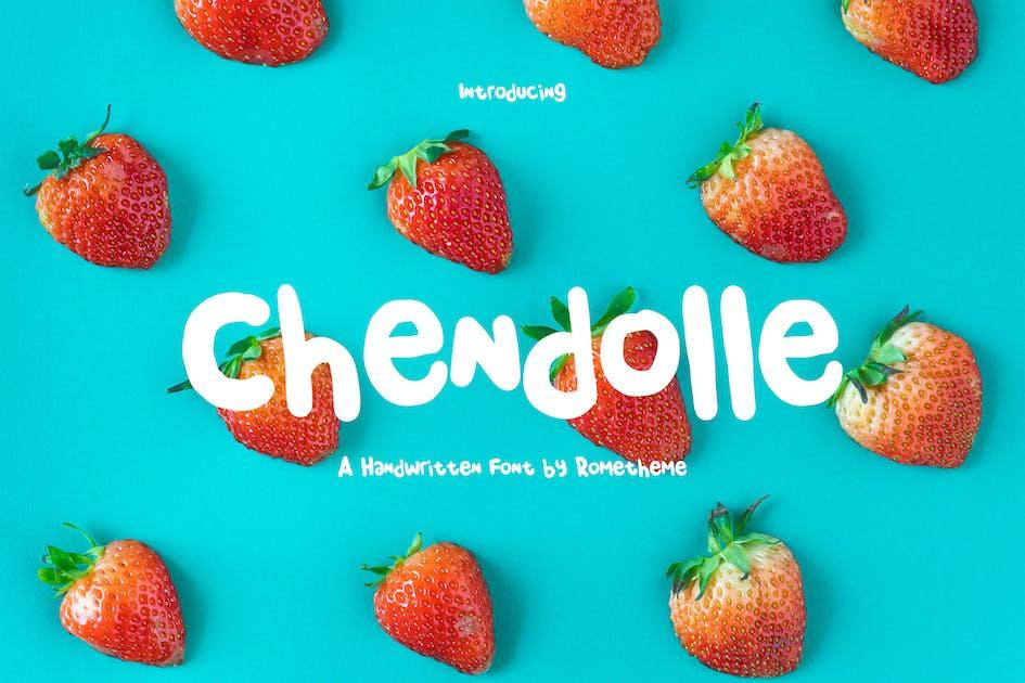 Download Chendolle - Fun Handwritten Font by Rometheme