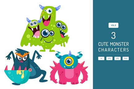 Cute Monster Characters Vol.9