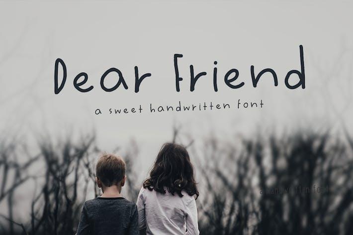Thumbnail for Dear Friend Handwritten Font