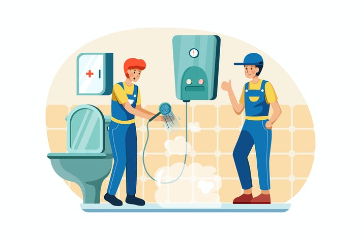 Thumbnail for Plumbers are checking the water heater