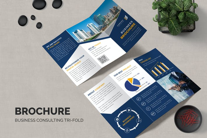 Company Trifold Brochure Template