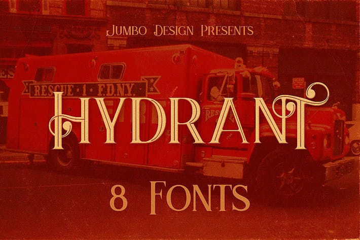 Thumbnail for Hydrant - Vintage Style Font