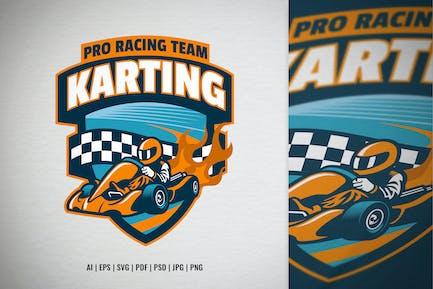 Pro Kart Racing Team Badge Logo