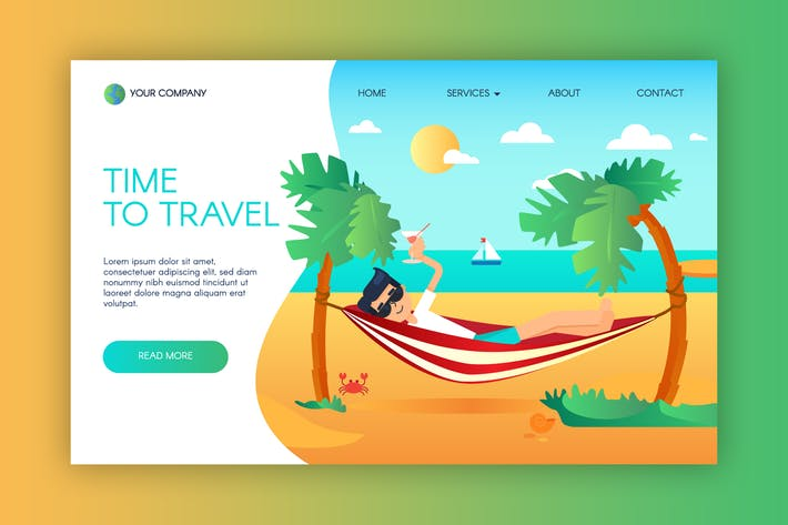 Thumbnail for Summer Vacation And Travel Landing Template