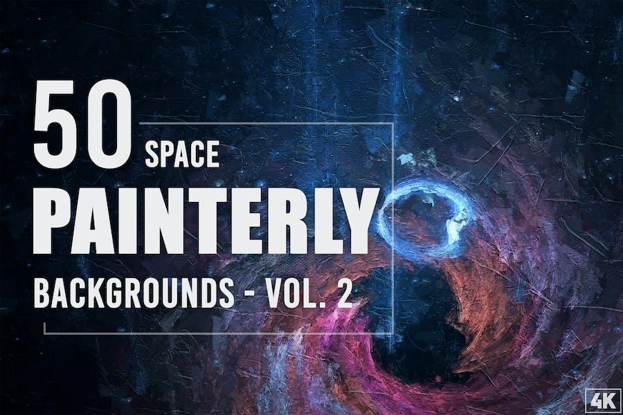 50 Malerisch Weltraum-Hintergründe - Band 2