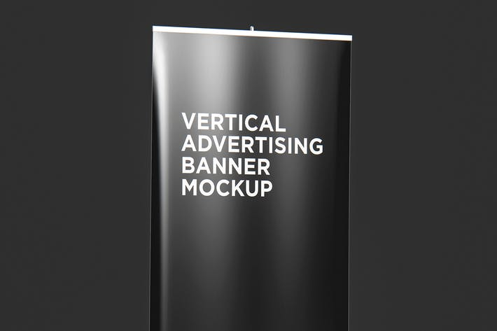 Cover Image For Roll Up Vertical Advertising Banner Mockup 001