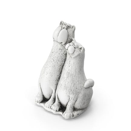 Two Cats Spielzeug-Statue