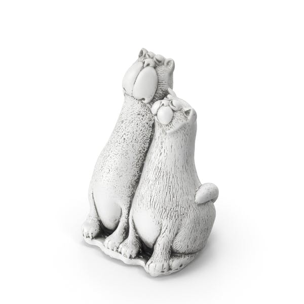 Two Cats Toy Statue