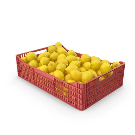 Plastic Crate With Lemons