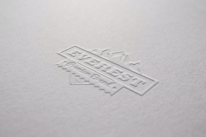 Thumbnail for Embossed Paper Mockup
