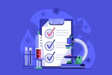 Virus Positive Medical Lab Test in Flat