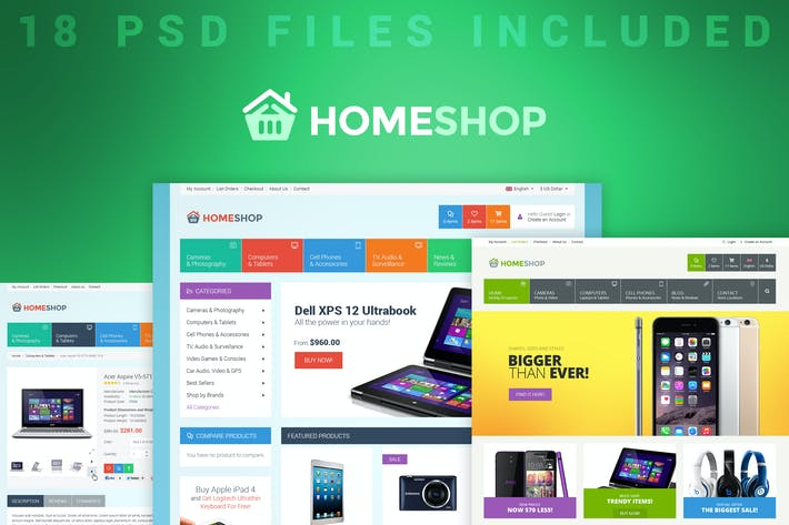 Thumbnail for Home Shop - Retail PSD Template