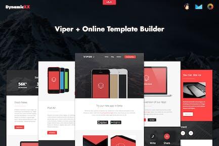 Viper - Responsive APP Business Email + Builder