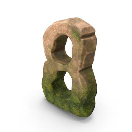 Número 8 Mossy Stone estilizada