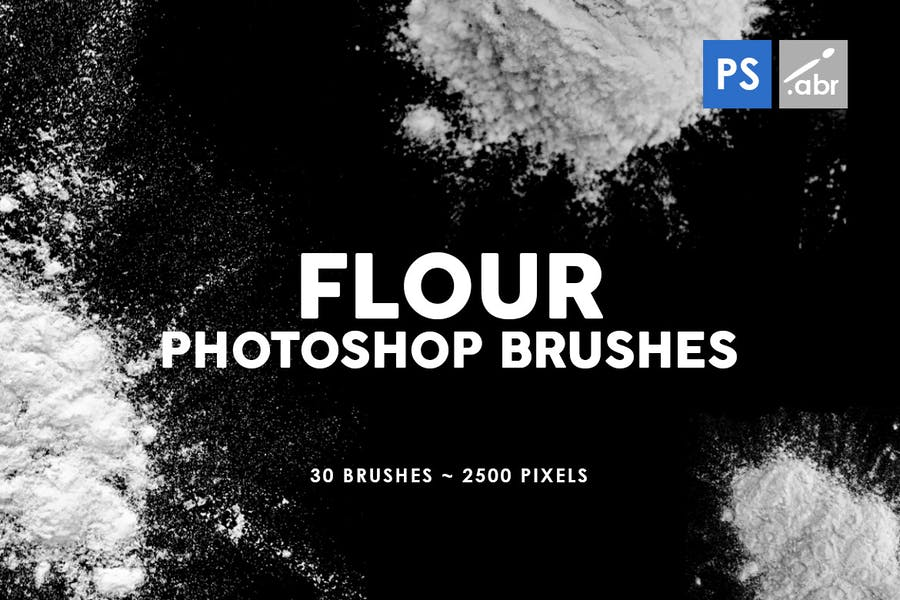 30 Flour Photoshop Stamp Brushes