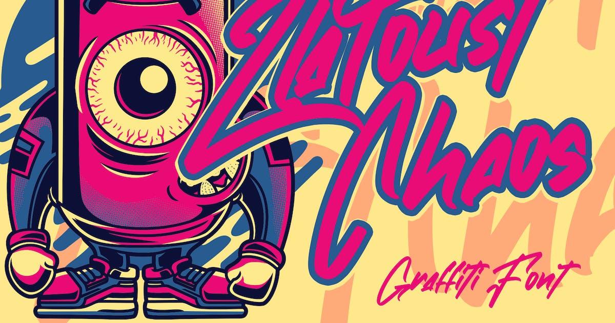 Download Zlatoust Chaos   Graffiti Font by arendxstudio