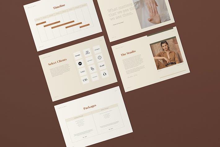 Thumbnail for Mirabilis Media Kit - Indesign Template