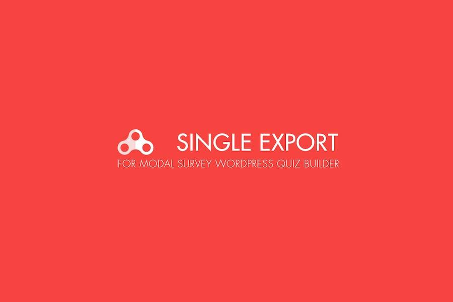 Modal Survey - Single Export