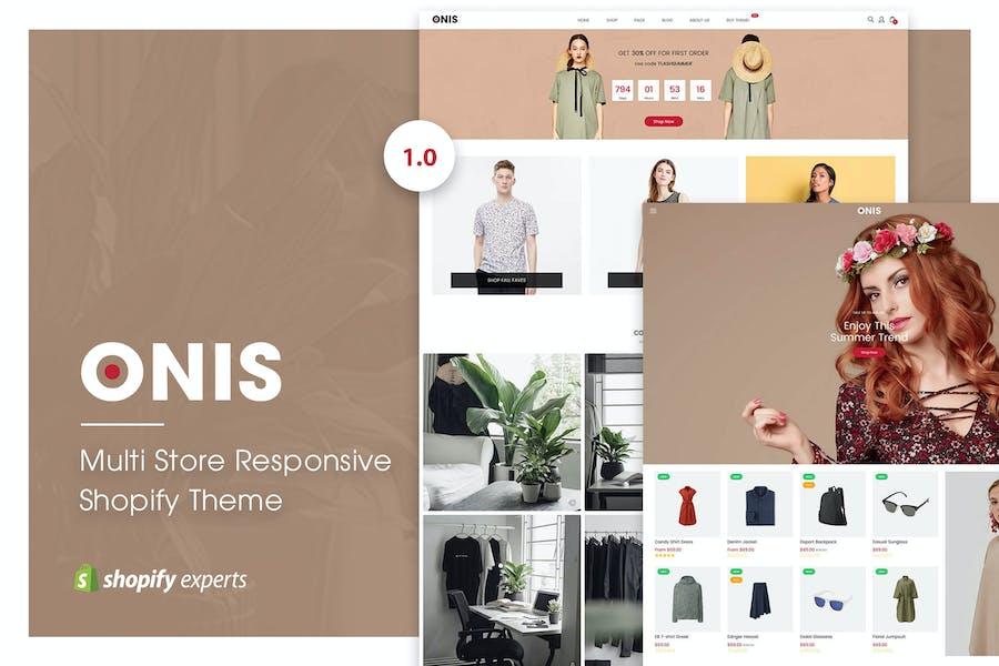 ONIS   Multi Store Responsive Shopify Thème