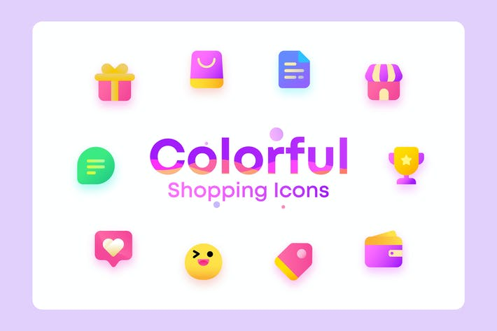Thumbnail for Colorful Shopping, ecommerce Illustration Icons