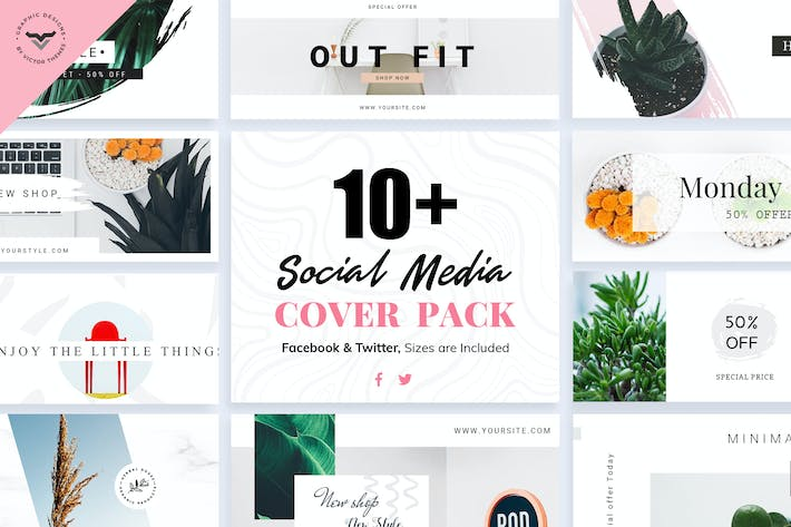 Thumbnail for Social Media Cover Templates