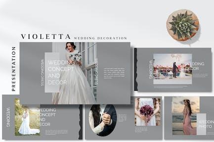 Violetta Wedding Decoration - Keynote Template