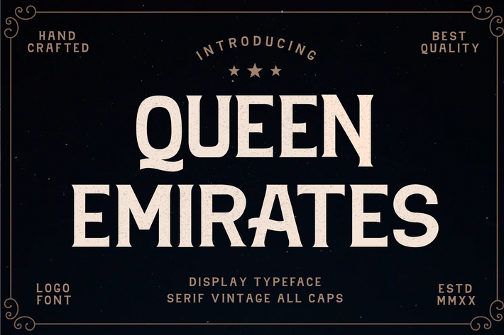 Thumbnail for Queen Emirates Font