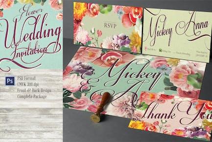 Sweet Flower Wedding Invitation