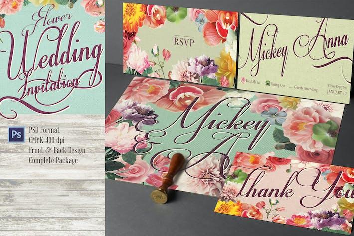 Thumbnail for Sweet Flower Hochzeitseinladung