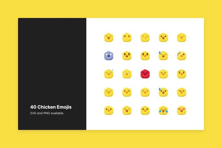Süße Hühnchen-Emojis