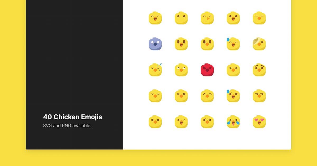 Download Cute Chicken Emojis by roywj