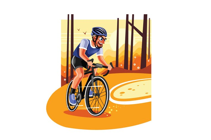 Thumbnail for Radfahrer auf Rennrad Racing Illustration