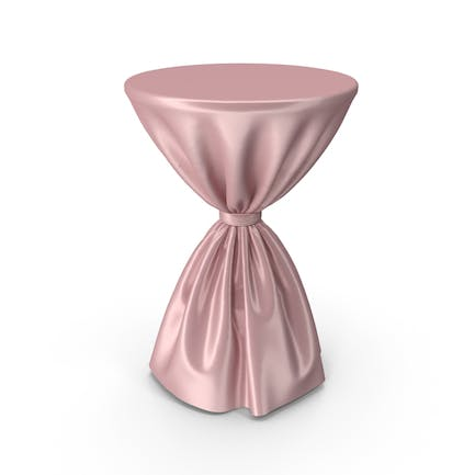 Pink Silk Tablecloth Cocktail Table
