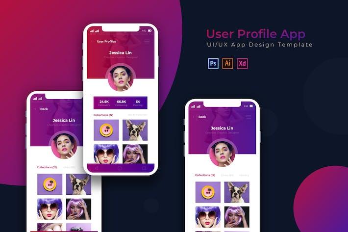 Thumbnail for Benutzerdetails | App Design Vorlage