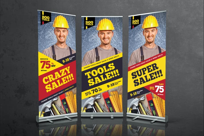 Thumbnail for Tools Sale Roll Up Banner