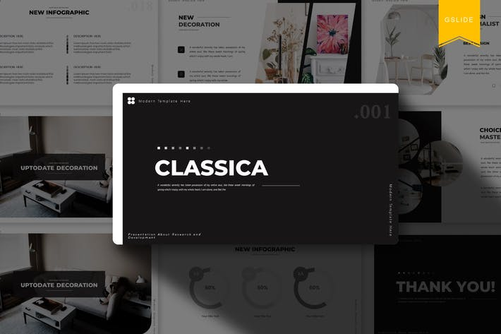 Thumbnail for Классика | Шаблон слайдов Google