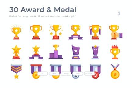 30 Award Icons- Flat