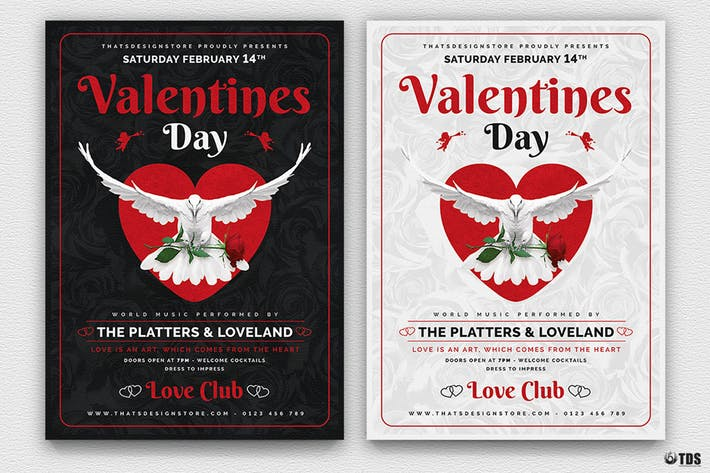 Thumbnail for Valentines Day Flyer Template V13