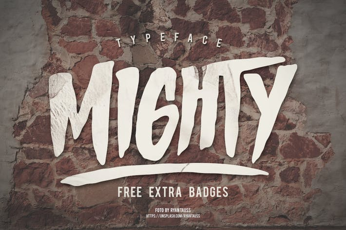 Cover Image For Mighty Typeface