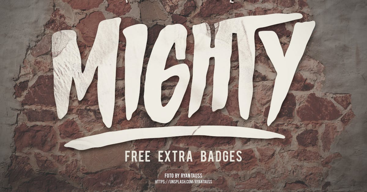 Download Mighty Typeface by giemons
