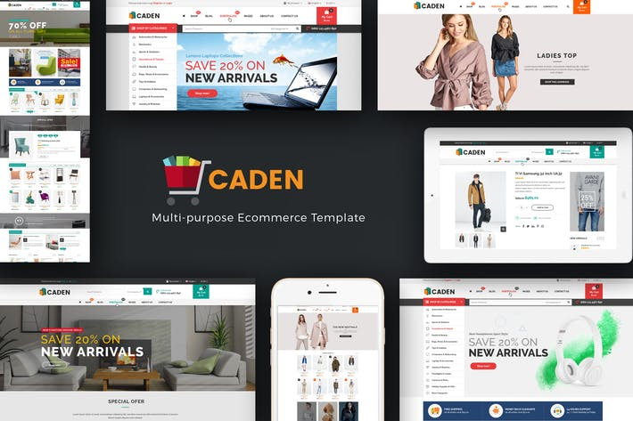 Thumbnail for Caden - Mega Store Responsive WordPress Theme