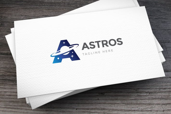 Thumbnail for Astronomy Letter A Logo Template