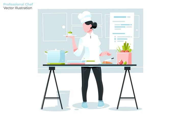 Thumbnail for Professional Chef - Vector Illustration