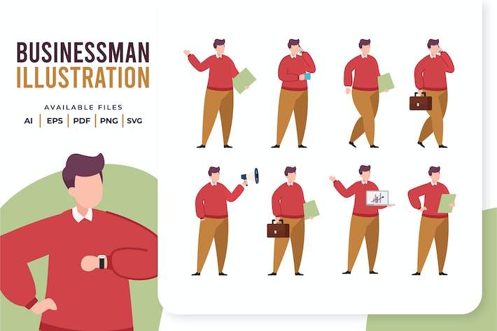 Thumbnail for Businessman Flat Illustration
