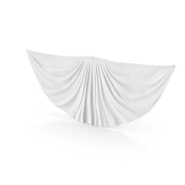 Weiße Wimpelkette