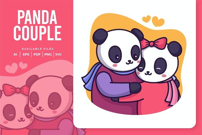 Panda-Paar-Abbildung